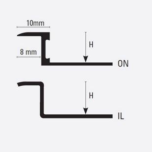 H = 8/10/12.5 mm