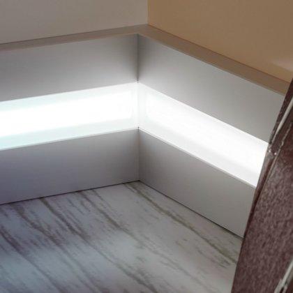 LED grīdlīstes Metal Line 89