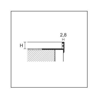 H = 8/10/12.5/15 mm